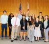 Visiting students from Santa Fe High School